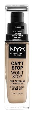 NYX Professional Make Up Can't Stop Won't Stop Full Coverage ...