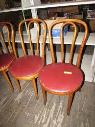 set of 4 vintage ice cream parlor chairs wooden