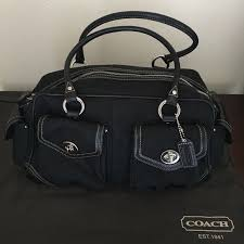 Coach Signature Soho Large Gallery Pocket Satchel Coach Signature Soho Large  Gallery Pocket Satchel, in