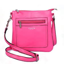 Best Style Coach Zip In Logo Small Fuchsia Crossbody Bags Cfq Outlet K3szB