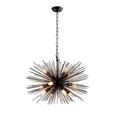12 light black sputnik chandelier