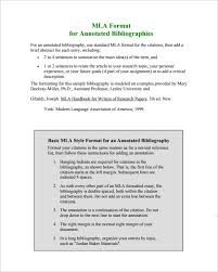 Word Annotated Bibliography Templates Free Download   Free