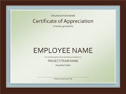 Award Certificates Templates Certificate Of Appreciation Office Templates 6