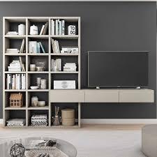 Attractive Wohnzimmer Regal Mit Tv Board In Beige Mit