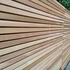 Then enjoy your colourful display as it grows up the trellis. Cedar Slatted Fence Panels Slatted Screen Fencing
