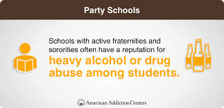 Academics And Partying Chart Top 10 Party Schools In The Us