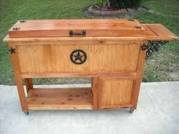 building a rustic ice chest plans wooden cooler wood