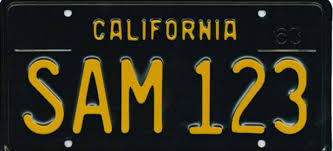 Colors Of California Size Chart The Colorful History Of California License Plates Los
