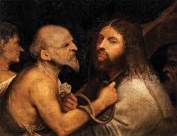 christ carrying the cross titian oil on canvas x scuola grande di san rocco venice italy