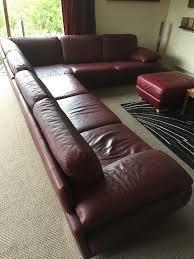 natuzzi plaza large corner sofa modular in semi aniline leather 7500 when new