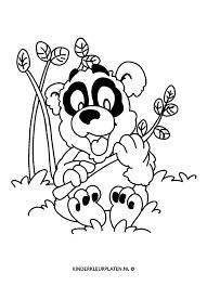 Kleurplaat Panda Bamboe Dieren