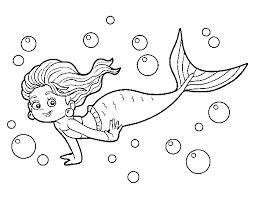 Disegno Di Sirena Del Mare Da Colorare Acolorecom
