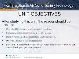 unit objectives describe diffe types of electric motor problems