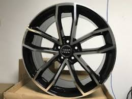 Audi Bolt Pattern Awesome 48 BLACK S48 STYLE RIMS WHEELS SET OF FOUR FOR 48X48 BOLT PATTERN