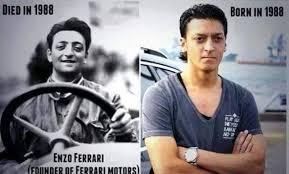Réincarnation, un sujet débattu depuis des siècles. Mesut Ozil Vs Enzo Ferrari Funny