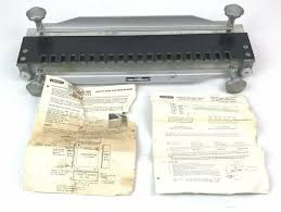 Hart Design Dovetail Jig Rare Vtg 60s Stanley Model 116 A Dovetail Jig Made In Usa W Manual See Details