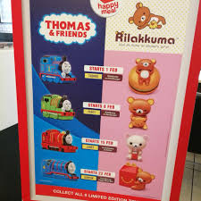 mcdonald s msia is having their happy meal toys giveaway e free thomas friends or rilaka happy meal toyany more