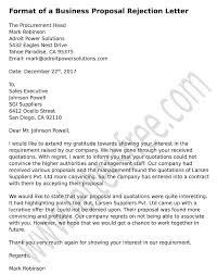 How To Decline A Vendor Proposal With Business Rejection Letter