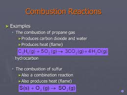 write a balanced equation for the combustion of propane c3h8