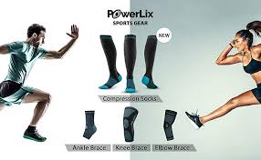 Powerlix Compression Knee Sleeve Sizing Chart Powerlix Knee Compression Sleeve Best Knee Brace For Men Women Knee Support For Running Basketball Weightlifting Gym Workout Sports