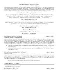 Primary School Teacher Resume Sample Best of School Teacher Resume Examples Example Teacher Resume Example Of A