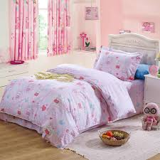 little girl pink rabbit heart comforter bedding sets cartoon 100 cotton twin size bedclothes with reversible duvet cover lace sheet 3 duvet cover set queen