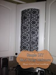 kitchen glass doors makeover with fabric and mod podge super simple diy