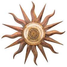copper mosaic sun wall art only 179 99