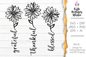 Choose from our library of lettering quotes, silhouettes, cute animals, garlands, and more. 45 Grateful Svg Designs Graphics