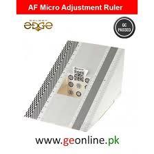 Af Micro Adjustment Ruler Chart