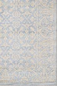 damask pattern grey gold handknotted rug