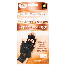 Copper Fit Gloves Size Chart Copper Hands Compression Gloves S M Walmart Com