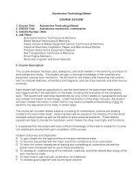 Sample Maintenance Technician Resumes Resume Objective Resume Sle