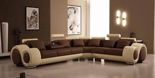 tan leather couch. Ultra Modern Brown \u0026 Tan Leather Sectional Sofa VGEV4087 Couch