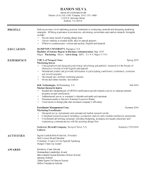 Sample Resume For Entry Level Marketing Position