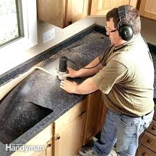 cutting laminate countertop for sink how to cut laminate install recent cutting sink hole in laminate