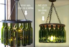 wine bottle chandelier diy kit
