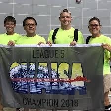 congratulations 2018 league 5 city meet chions our storm swim team pleted