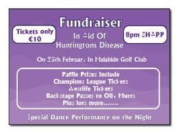 Raffle Benefit Night Tickets Baldoyle Print Ltd North Dublin