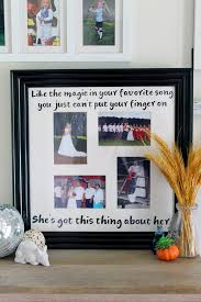 wedding frame with song s from