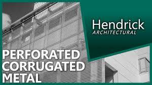 perforated corrugated metal panels architectural metal