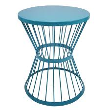 garden treasures 20 in blue powder coated outdoor round steel plant stand