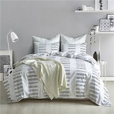 simple fashion black white stripe pattern bedding sets 2 bed linings duvet cover pillowcases cover set usa queen 3 size full duvet covers bedroom linen sets