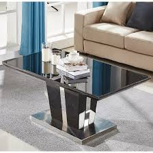 memphis coffee table in black high