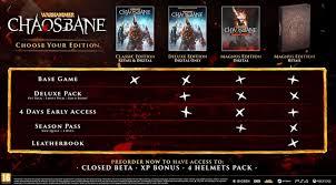 Warhammer Chaosbane Release Date Beta Pre Order Details