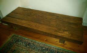 large rustic oak railway sleeper coffee table 200cm x 80cm x 30cm