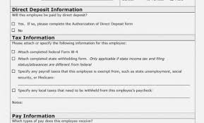 13 Printable Employee Information Forms Personnel Information