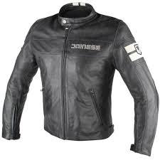 dainese hf d1 retro vintage leather motorcycle motorbike jacket black ice