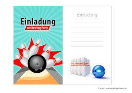 S Druckvorlagen Bowling Einladung
