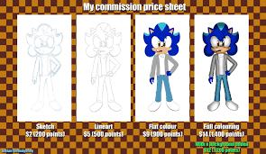 commission sheet my commission price sheet by stefanthehedgehog on deviantart